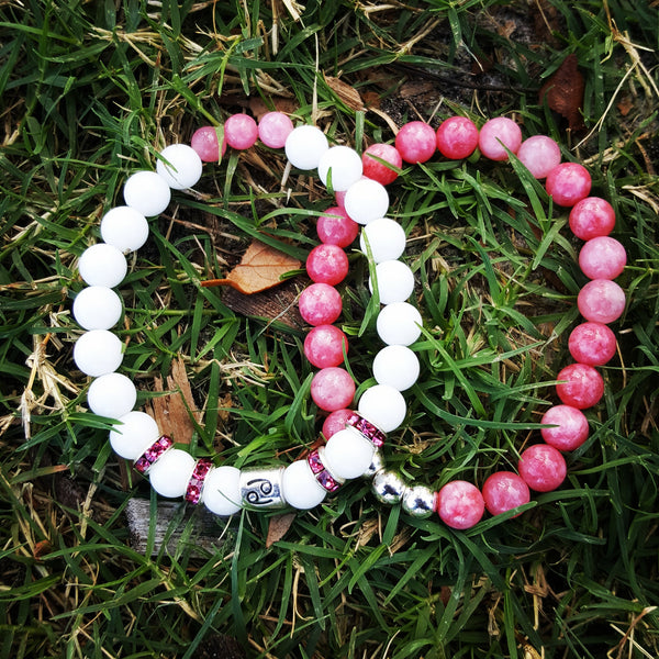 Cancer's White Finest Birthstone Bracelet