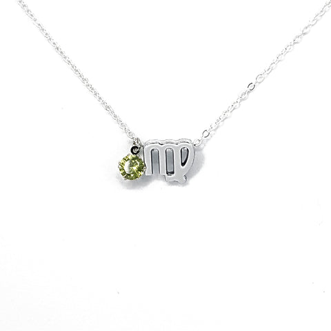 Virgo's Silver Birthstone Necklace