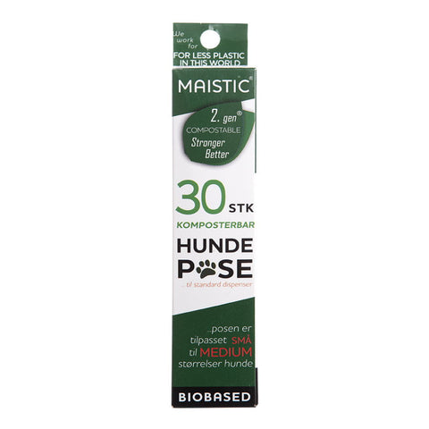 Hundepose Lille-Medium Komposterbar Maistic 30 stk.