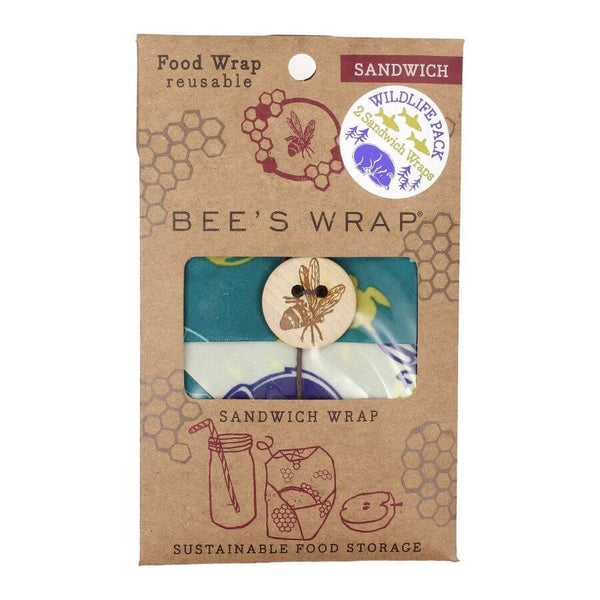 Bee's Wrap - Sandwich Wrap Wildlife Pack, 2 stk.
