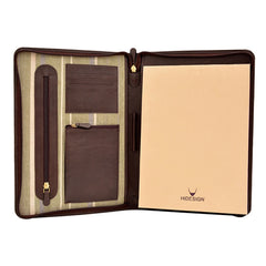 Hidesign Charles Leather Portfolio Padfolio with Handmade Paper Notebook