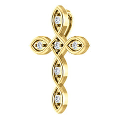 Accented Cross Pendant