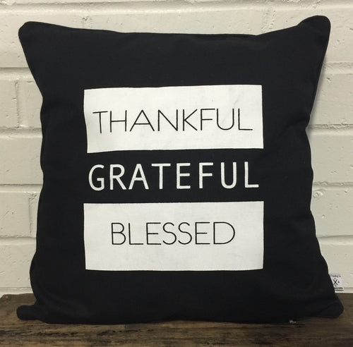 Pillow- Thankful, Grateful, Blessed
