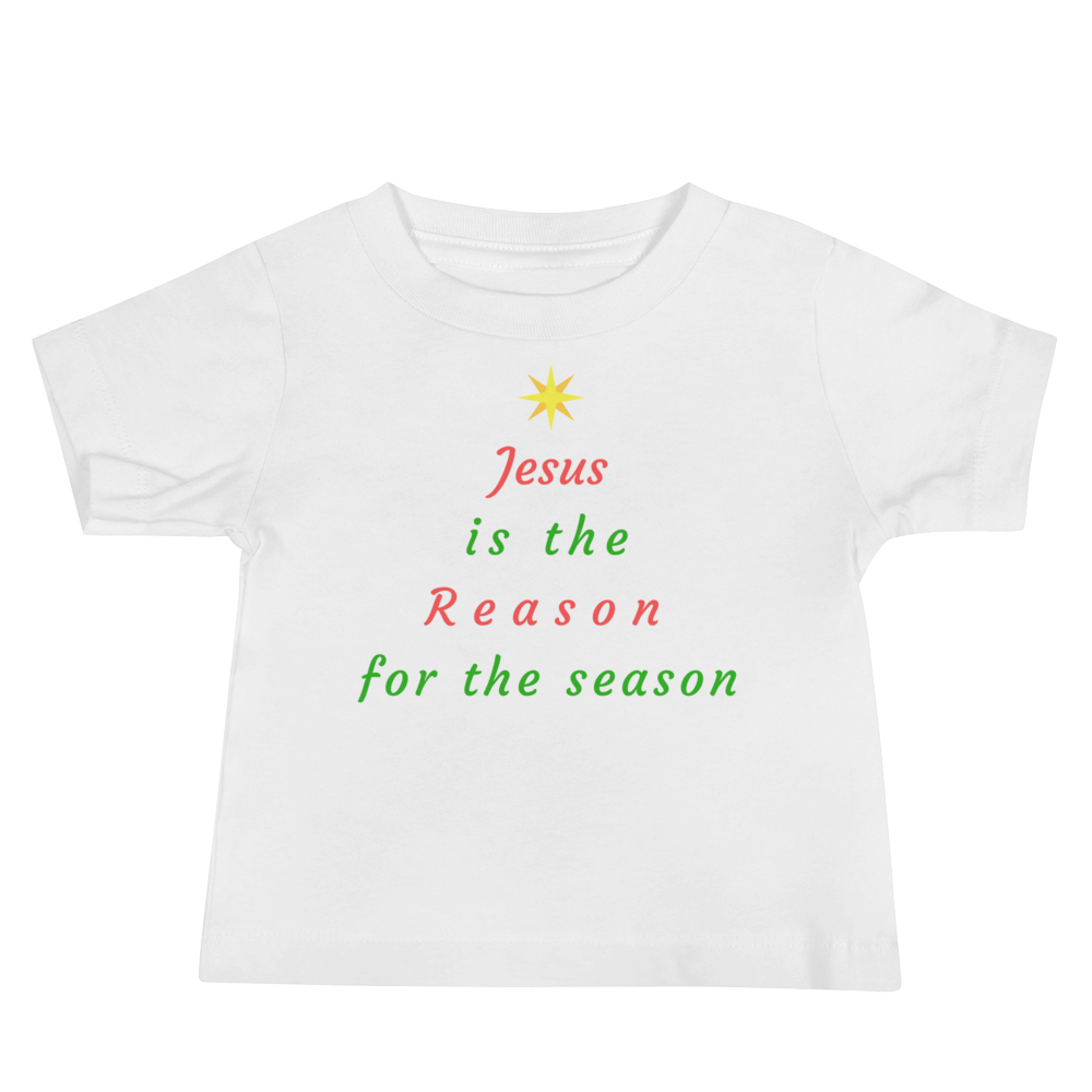 "Baby Jersey Short Sleeve Tee: ""Jesus is the Reason for the Season"""