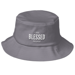 Old School Bucket Hat: I See Blessed People