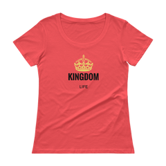 Ladies' Scoopneck T-Shirt: Kingdom Life
