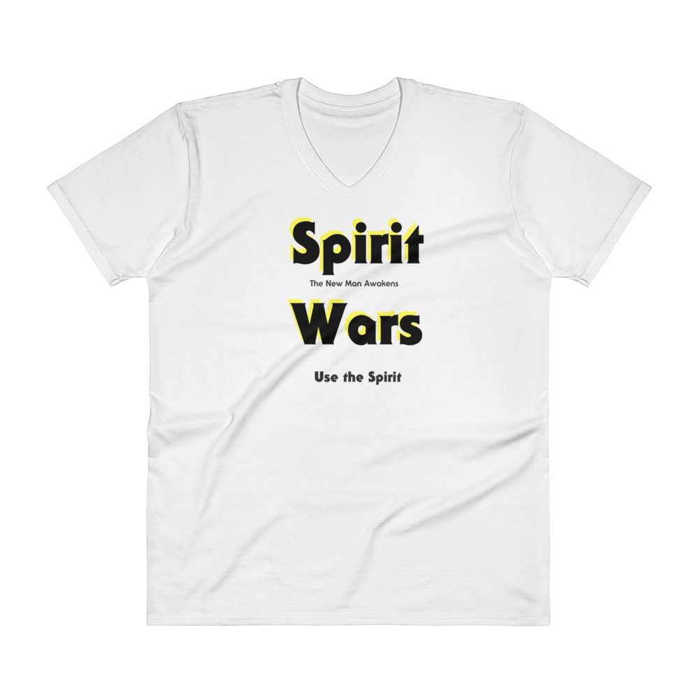 "V-Neck T-Shirt ""Spirit Wars The New Man Awakens"""