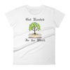 "Women's short sleeve t-shirt ""Get Rooted in the Word"""