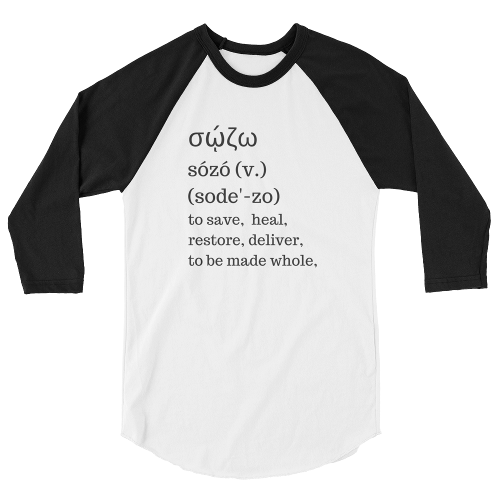 "3/4 sleeve raglan shirt ""Sozo definition"""