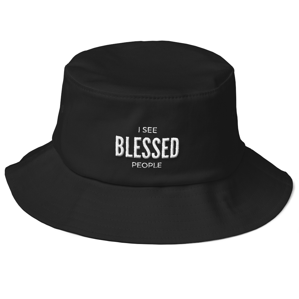 9aaf0850e80 Old School Bucket Hat  I See Blessed People – Sozo House