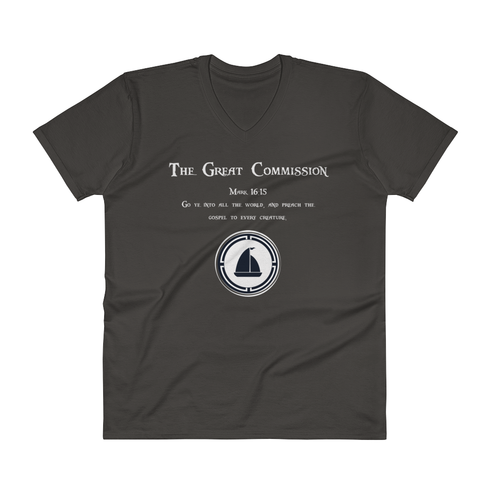 V-Neck T-Shirt 'Great Commission""