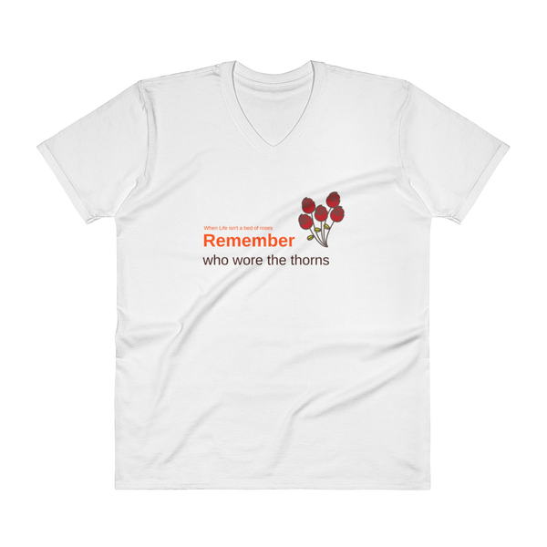 "V-Neck T-Shirt: ""Remember"""