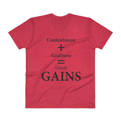 V-Neck T-Shirt: GAINS