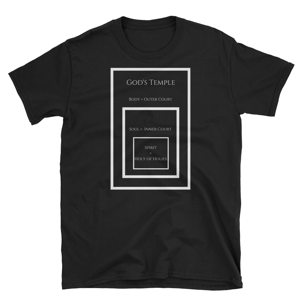 "Short-Sleeve Unisex T-Shirt ""My Body is God's Temple"""