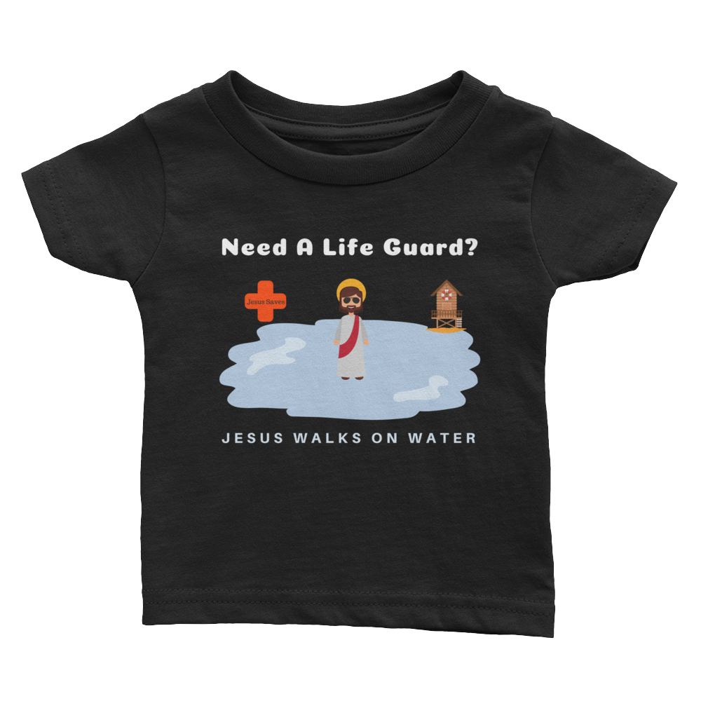 "Infant Tee ""Jesus Walks on Water"""