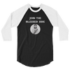 "3/4 sleeve raglan shirt ""Join the Blessed Side"""