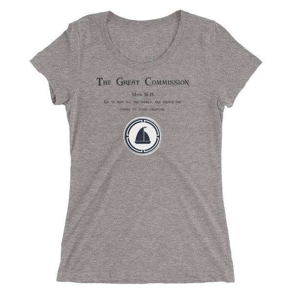 "Ladies' short sleeve t-shirt ""The Great Commission"""