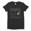 "Women's Crew Neck T-shirt: ""THANKFUL for Jesus & pumpkin spice"""
