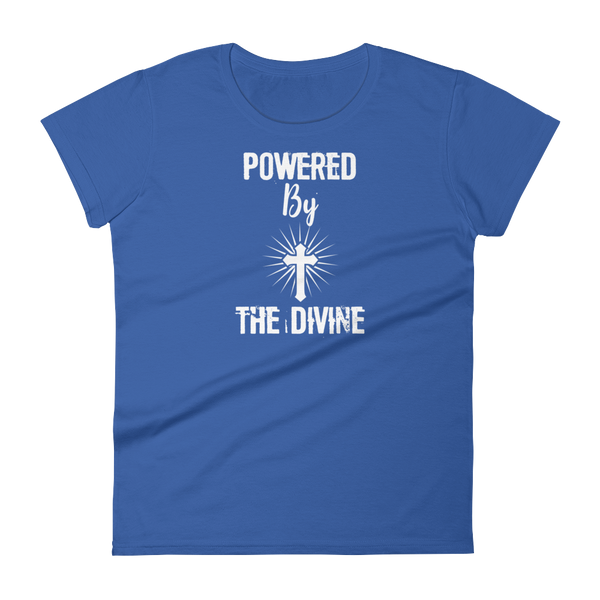 "Women's short sleeve t-shirt: ""Powered by the Divine"""