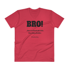 V-Neck T-Shirt: BRO!