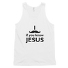 Classic tank top: I mustache if you know Jesus