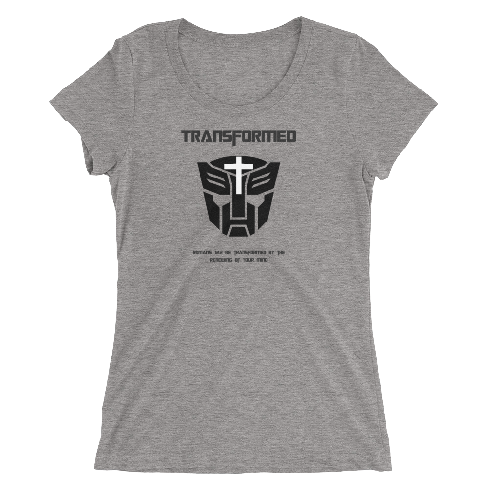 "Ladies' short sleeve t-shirt ""Transformed"""