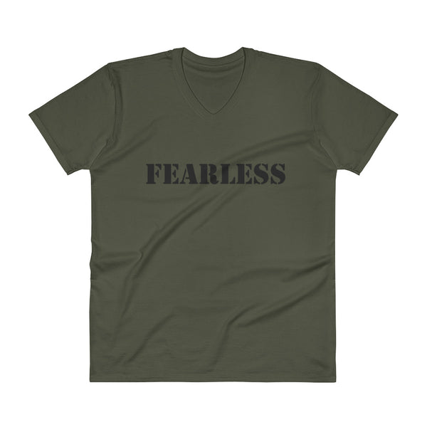 V-Neck T-Shirt: FEARLESS