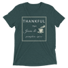 "Short sleeve t-shirt: ""THANKFUL for Jesus and pumpkin spice"""