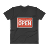 "V-Neck T-Shirt ""Come in Heaven's Open"""