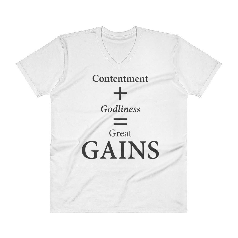 2df101647 V-Neck T-Shirt: GAINS – Sozo House