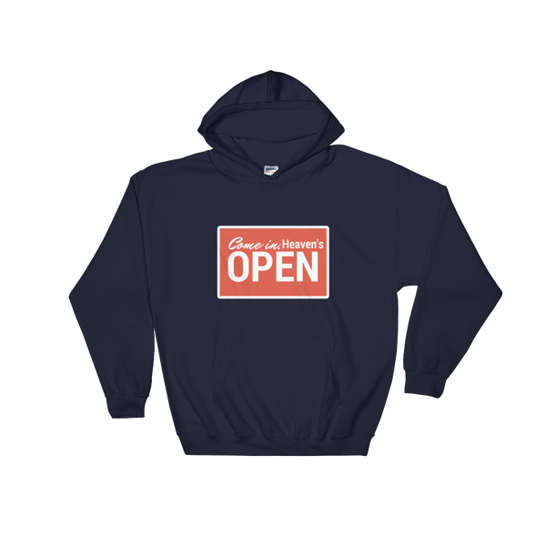 "Hooded Sweatshirt ""Open"""