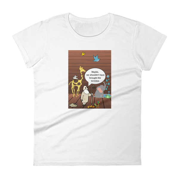 "Women's short sleeve t-shirt ""Moses and animals"""