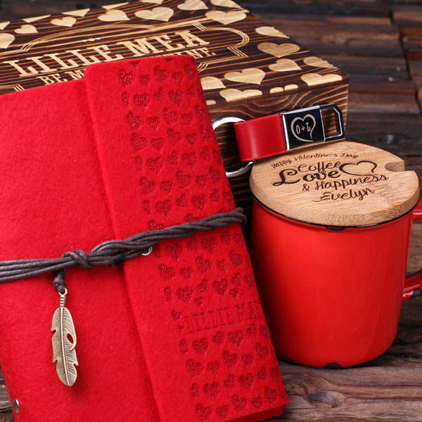 Romantic Red // Women's Gift Set with Engraved Box - ExploreGift