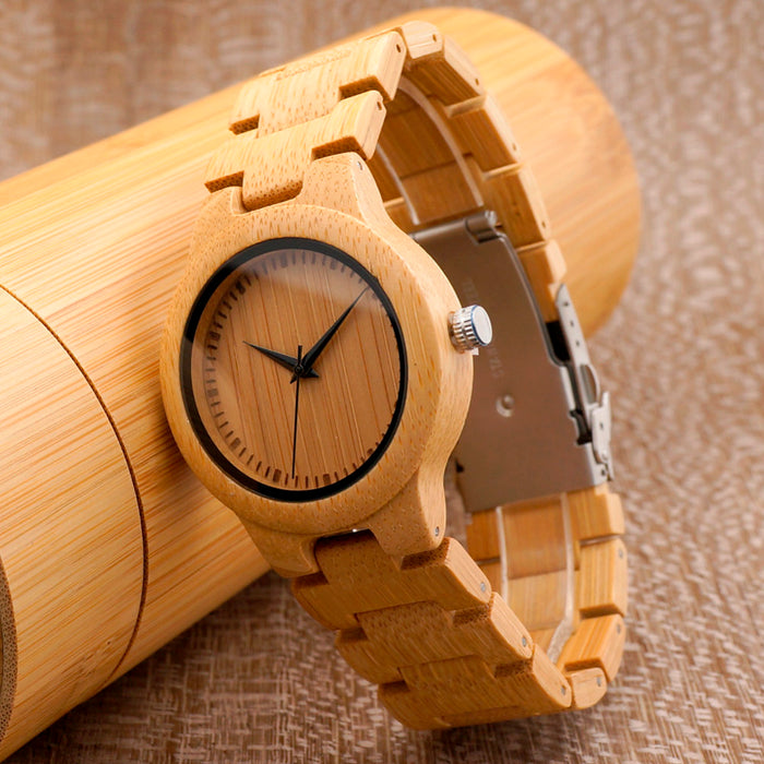 The Momentary // Personalised Wooden Watch (Women Version)