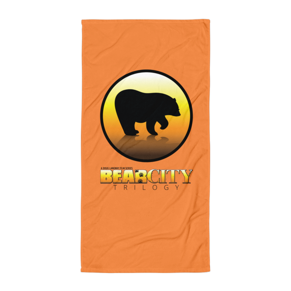 Bear City Beach Towel - Orange