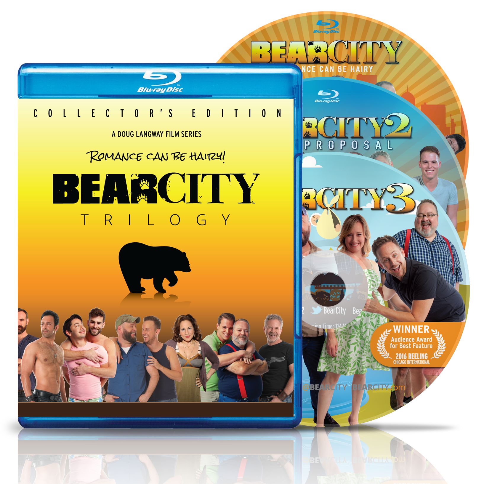 BEARCITY TRILOGY BLU-RAY Collector's Edition 3-Disc Set – Free Shipping!