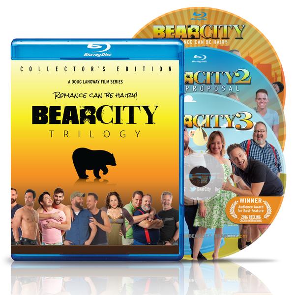 BEARCITY TRILOGY BLU-RAY Collector's Edition 3-Disc Set - FREE SHIPPING