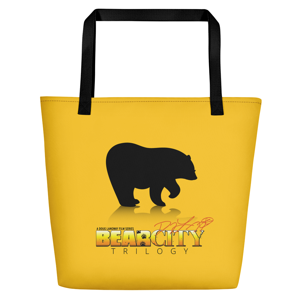 Bear City Beach Bag - Yellow