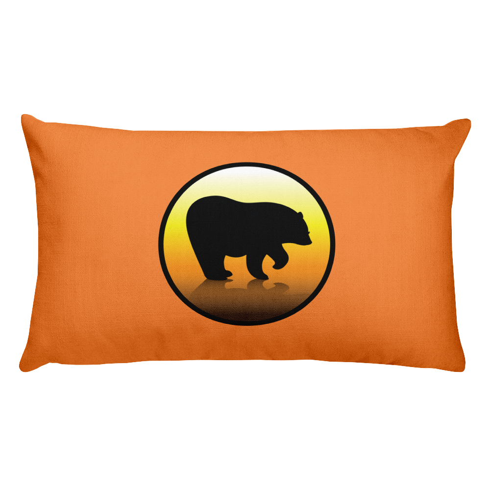 Bear City Premium Throw Pillow - Orange
