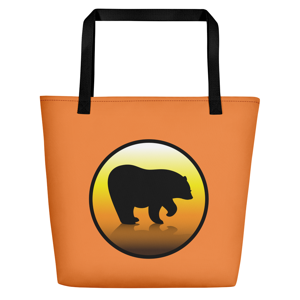 Bear City Beach Bag - Orange
