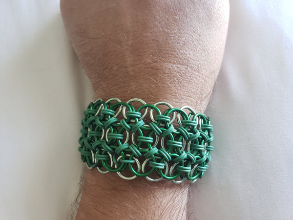 Triple Stretch Helm Chainmail Bracelet