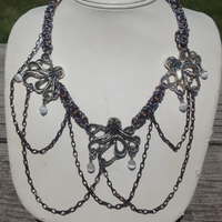 Steampunk Octopus Camelot Necklace