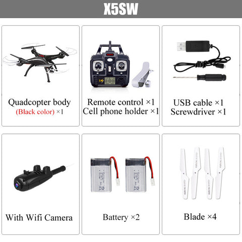 SYMA Official X5SW Drones with Camera HD WiFi FPV Real Time transmission