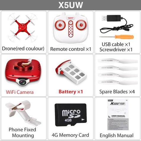 SYMA X5UW Drone with WiFi and 720P HD Camera