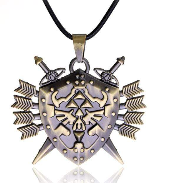 2 Swords Shield Necklace anime-store