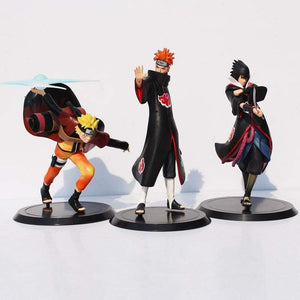 3 Piece Collector's Set, Akatsuki Sasuke, Pain, and Naruto anime-store