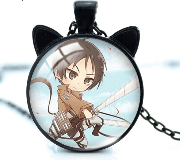 Attack on Titan Glass Pendant Necklace!