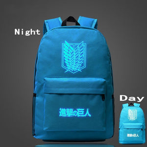 Attack on Titan Cosmic Glowing Backpacks anime-store