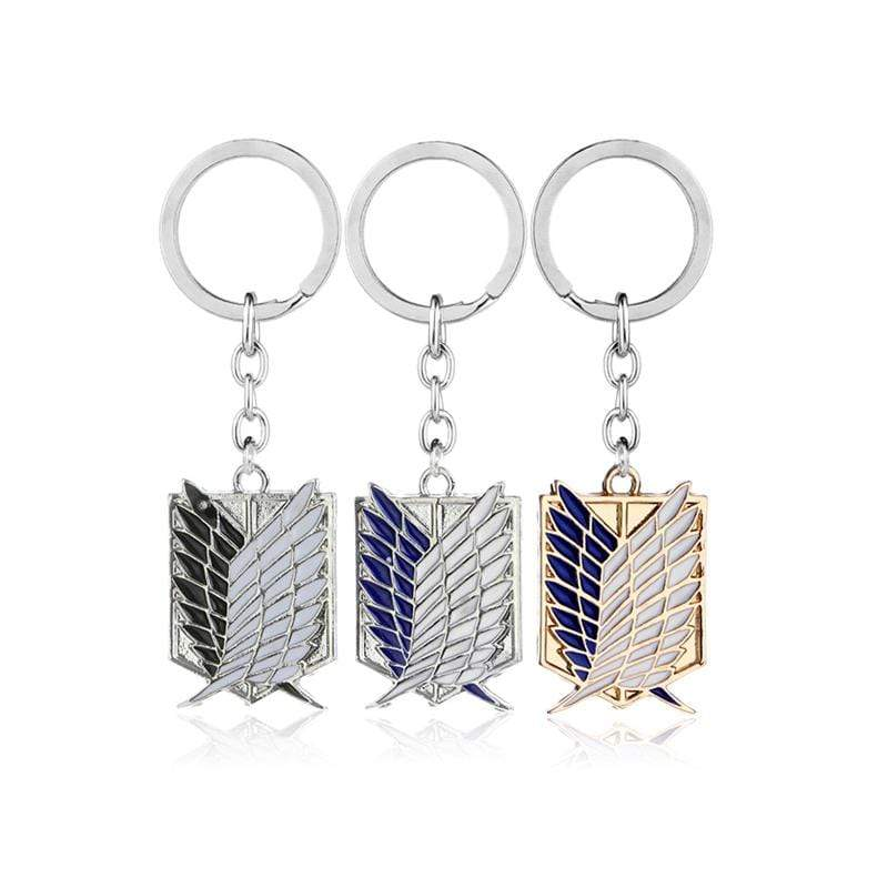Attack On Titan Silver Keychains - The Fullmetal