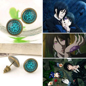 Black Butler Stud Earrings anime-store